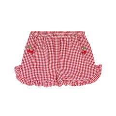 Small Gingham Frill Culottes