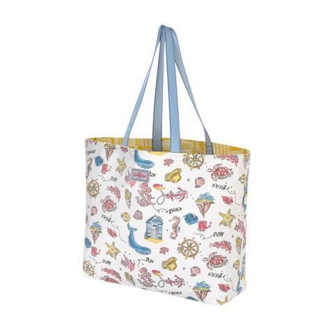 Summer Time Large Reversible Everyday Tote