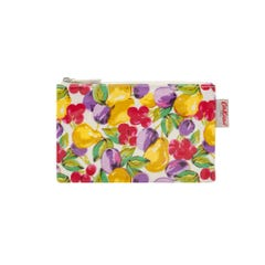 Small Painted Fruit Zip Purse