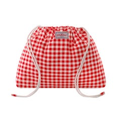 Small Gingham Drawstring Pouch
