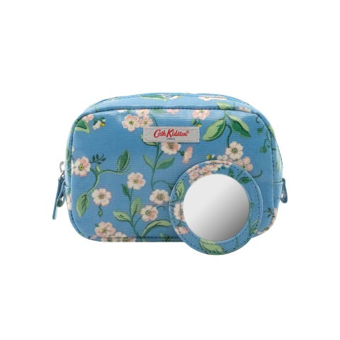 Forget Me Not Classic Make Up Case Blue