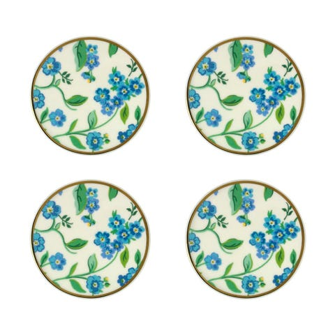 Forget Me Not Set Of 4 Coasters