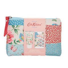 Cottage Patchwork Cosmetic Pouch With Hand Cream & Sanitiser