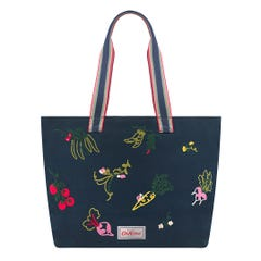Garden Veg Embroidered Tote Bag