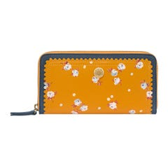 The Wimbourne Ditsy Leather Continental Wallet