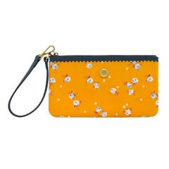 The Wimbourne Ditsy Leather Wristlet