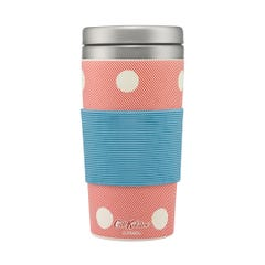 Button Spot Twill Bamboo Travel Cup