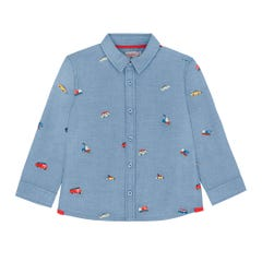 Spaced Garage Station Embroidered Shirt