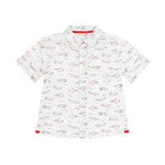 Mini Planes Short Sleeve Oversized Shirt