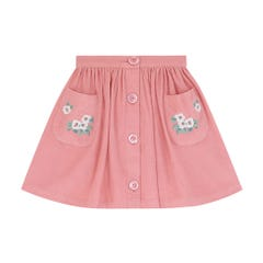 Needlecord Button Down Skirt