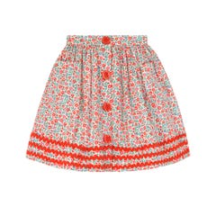 Ashbourne Ditsy Button Down Skirt