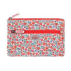 Ashbourne Ditsy Kids Double Zip Pencil Case