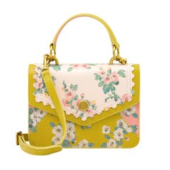 Mayfield Blossom Small Scalloped Printed Mini Leather Bag