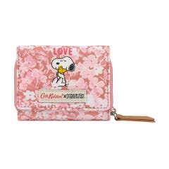 Snoopy Love Paper Ditsy Compact Trifold Wallet