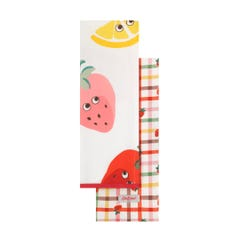 Strawberry Gingham Set Of Two Tea Towels