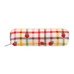 Strawberry Gingham Curved Pencil Case