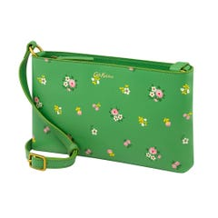 Spaced Bath Flowers Small Zipped Crossbody