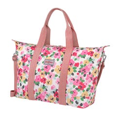 Large Painted Pansies Foldaway Overnight Bag