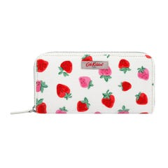 Sweet Strawberry Continental Zip Wallet