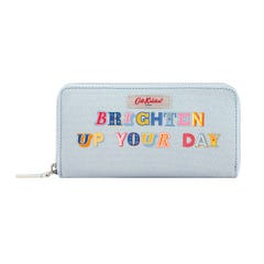 Brighten Up Your Day Continental Zip Wallet