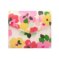 Large Painted Pansies Pebble PVC Medium Envelope Wallet