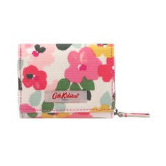 Large Painted Pansies Small Foldover Wallet