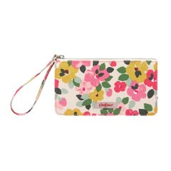 Large Painted Pansies Multi Pocket Pouch