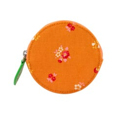 Spaced Bath Flowers Novelty Purse Tangerine