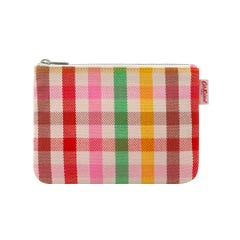 Gingham Check Pouch