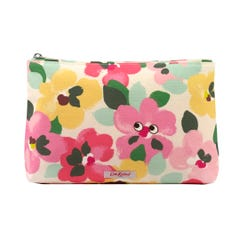 Painted Pansies Placement Matt Zip Cosmetic Bag