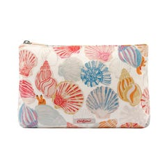 Seaside Shells Matt Zip Cosmetic Bag