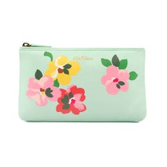 Painted Pansies Placement Matt Zip Make Up Bag
