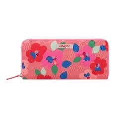 Large Pansy Twill Travel Continental Wallet