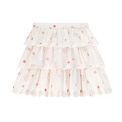Mini Sweet Strawberry Broderie Anglaise Skirt