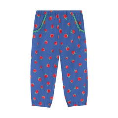 Spaced Sweet Strawberry Kids Chambray Trousers