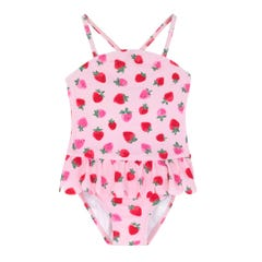 Sweet Strawberry Kids Scalloped Swimsuit