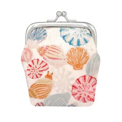 Small Seaside Shells Kids Mini Clasp Purse