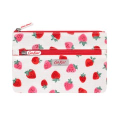 Sweet Strawberry Kids Double Zip Pencil Case