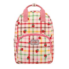 Strawberry Gingham Kids Medium Backpack with Chest Strap