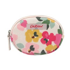 Large Painted Pansies Oval Coin Purse