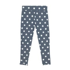 Button Spot Twill Kids Leggings