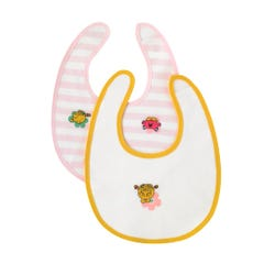 Little Miss Flowers 2PK Bibs