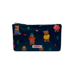 Woodland Bear Zip Make Up Bag