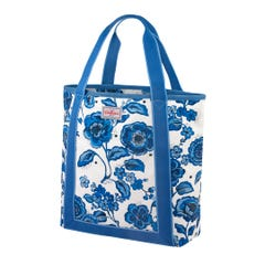 Chintz Flower Webbing Tote Blue
