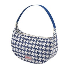 Houndstooth Soft Shoulder Bag Blue