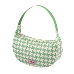 Houndstooth Soft Shoulder Bag Green
