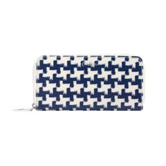 Houndstooth Continental Zip Wallet