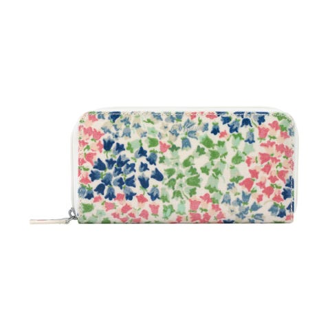 Tiny Painted Bluebell Continental Zip Wallet