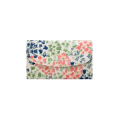 Tiny Painted Bluebell Foldover Wallet