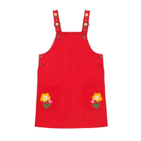 Solid Rosie Pinafore Dress